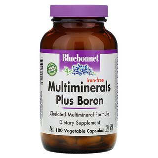 Bluebonnet Nutrition, المعادن المتعددة بالإضافة إلى البورون، خالٍ من الحديد، 180 كبسولة نباتية