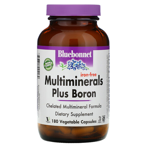 Multiminerals Plus Boron, Iron-Free, 180 Vegetable Capsules