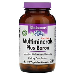 Блубоннэт Нутришен, Multiminerals Plus Boron, Iron-Free, 180 Vegetable Capsules отзывы