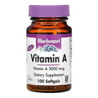 Bluebonnet Nutrition, 维生素 A,3,000 微克,100 粒软凝胶