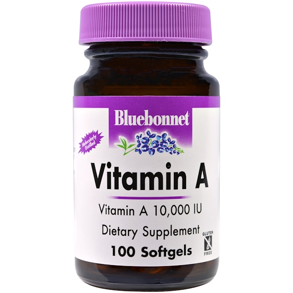 Bluebonnet Nutrition, Vitamin A, 100 Softgels