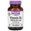 Bluebonnet Nutrition, Vitamin D3, 25 mcg (1,000 IU), 100 Softgels