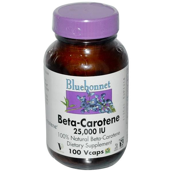 Bluebonnet Nutrition, Beta-Carotene, 25,000 IU, 100 Vcaps (Discontinued Item)