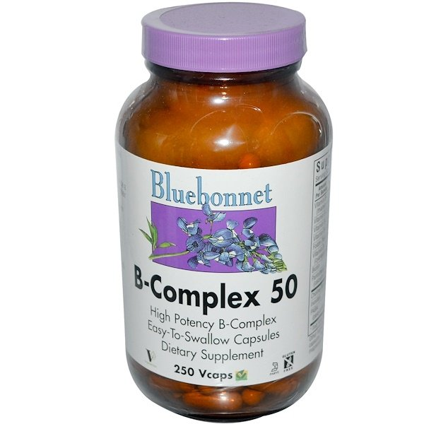Bluebonnet Nutrition, B-Complex 50, 250 Vcaps (Discontinued Item)