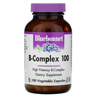 Bluebonnet Nutrition B-Complex 100, витамины группыB, 100вегетарианских капсул