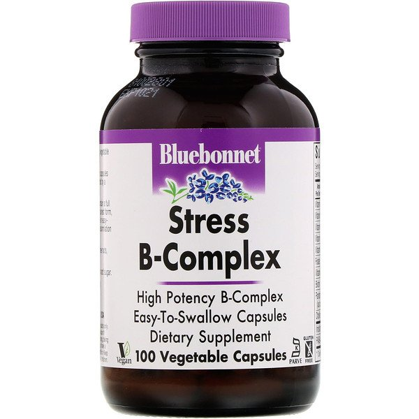 Bluebonnet Nutrition, Stress B-Complex‏، 100 كبسولة نباتية
