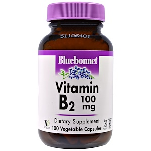 Блубоннэт Нутришен, Vitamin B2, 100 mg, 100 Veggie Caps отзывы