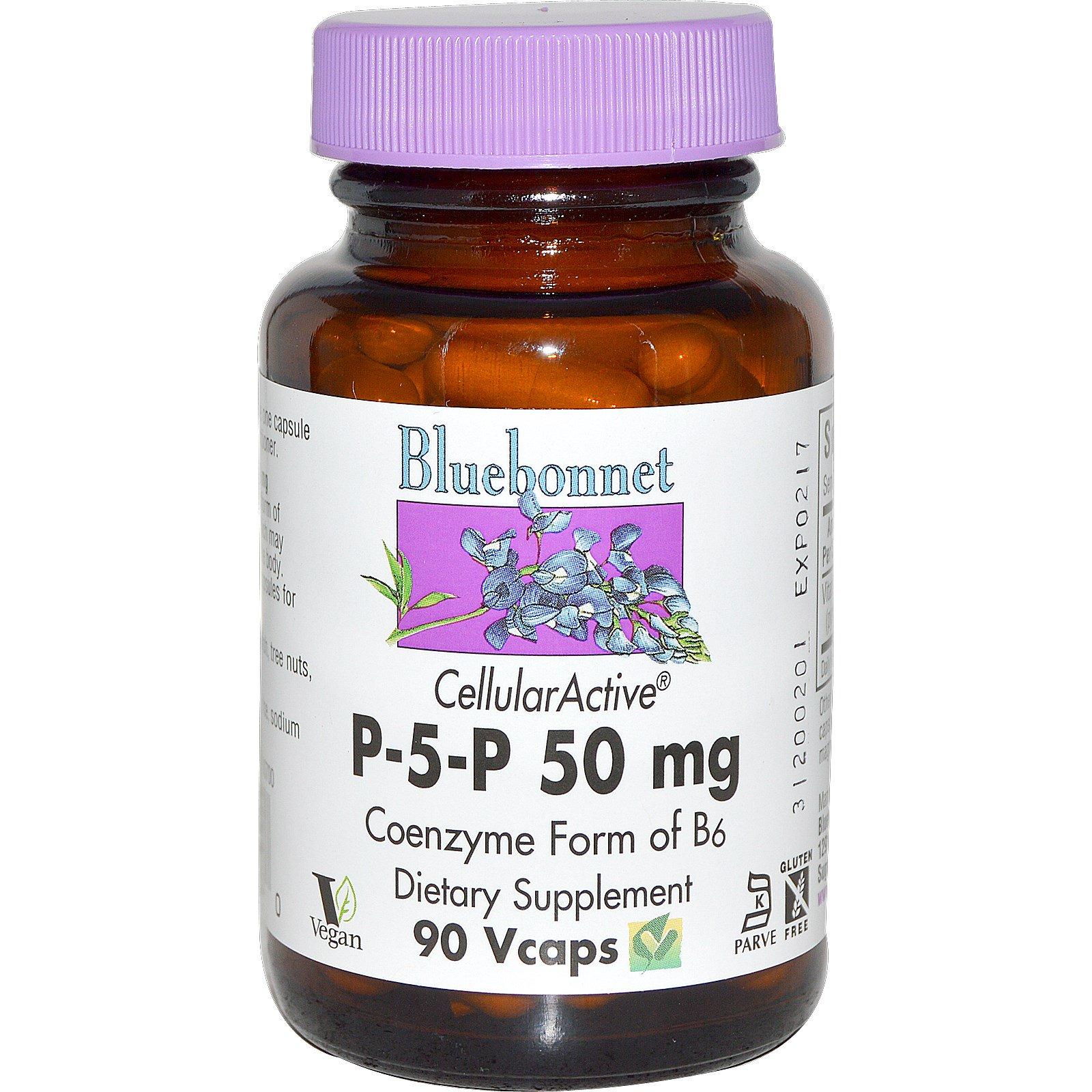 Bluebonnet Nutrition, Р-5-Р, 500 мг, 90 растительных капсул