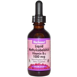 Bluebonnet Nutrition, 液状メチルコバラミン ビタミン B12, ナチュラルラズベリーフレーバー, 1000 mcg, 2 液量オンス (59 ml)