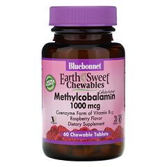 Bluebonnet Nutrition, EarthSweet 咀嚼片系列甲鈷胺,天然樹莓味,1,000 微克,60 片咀嚼片