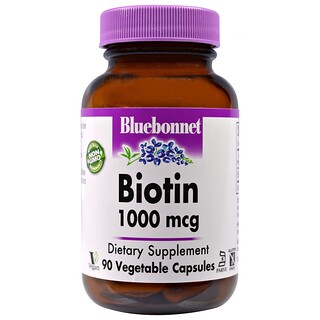 Bluebonnet Nutrition, Biotin, 1,000 mcg, 90 Veggie Caps