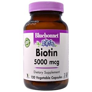 Блубоннэт Нутришен, Biotin, 5,000 mcg, 120 Veggie Caps отзывы