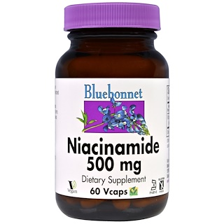 Bluebonnet Nutrition, Niacinamide, 500 mg, 60 VCaps