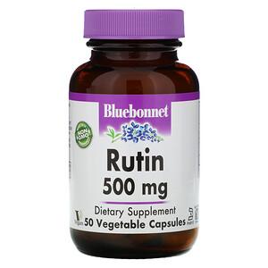 Блубоннэт Нутришен, Rutin, 500 mg, 50 Vegetarian Capsules отзывы покупателей