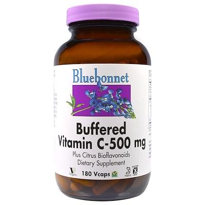 Купить Bluebonnet Nutrition Буферизированный витамин С, 500 мг, 180 капсул