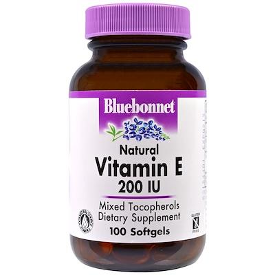Витамин E, 200 МЕ, 100 гелевых капсул
