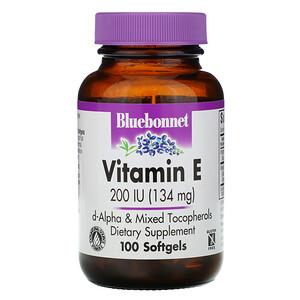 Блубоннэт Нутришен, Vitamin E, 200 IU, 100 Softgels отзывы покупателей