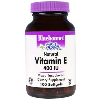 Bluebonnet Nutrition, Natural Vitamin E, 400 IU, 100 Softgels
