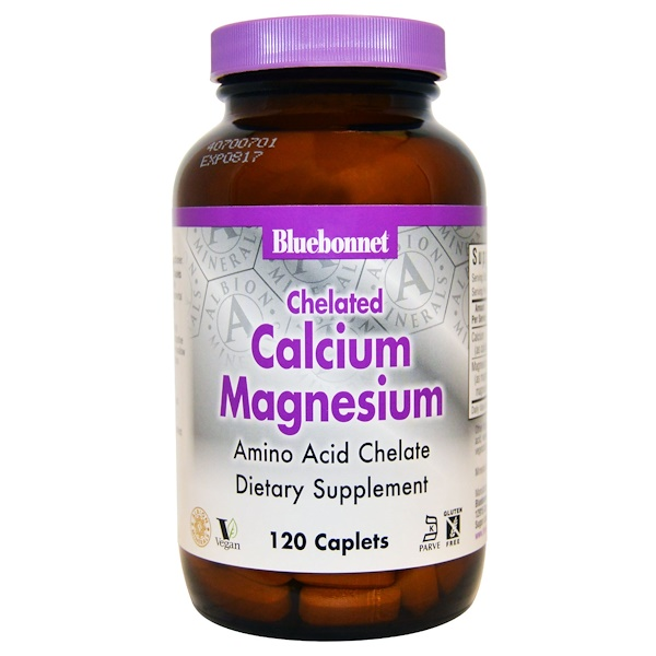 Bluebonnet Nutrition, Calcium Magnesium, Chelated, 120 Caplets