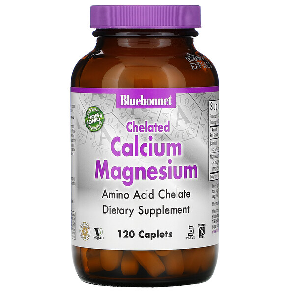 Bluebonnet Nutrition, Chelated Calcium Magnesium, 120 Caplets