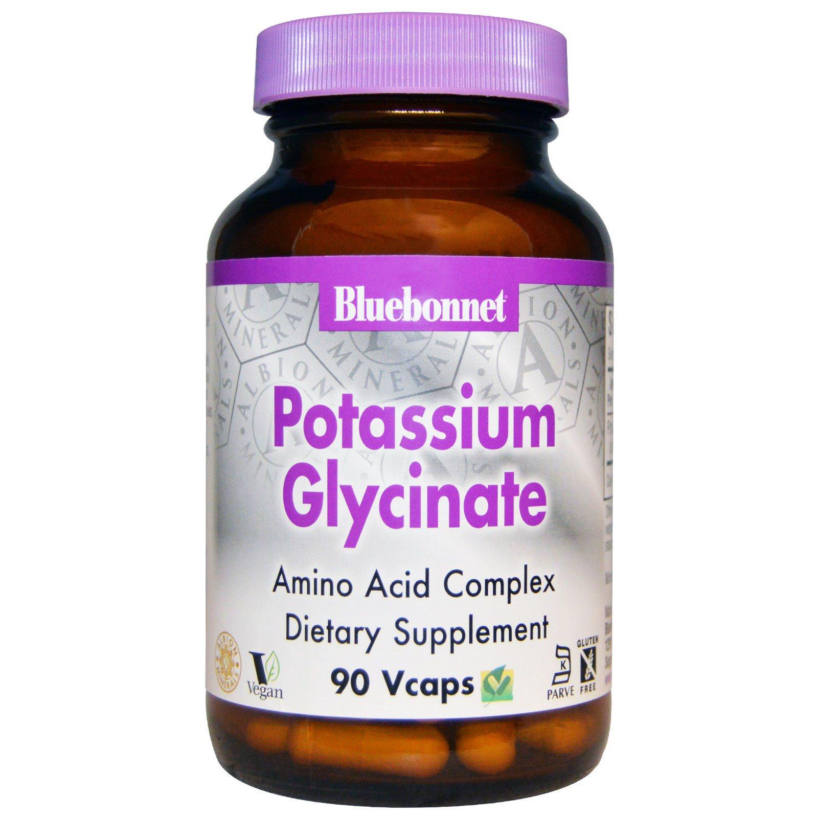 Bluebonnet Nutrition, Калия глицинат, 90 капсул