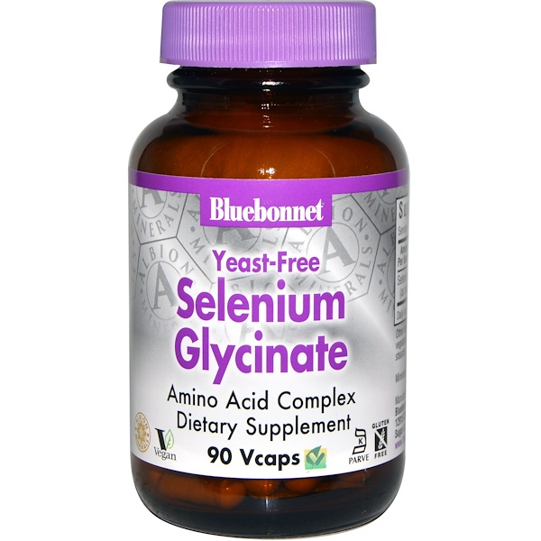 Bluebonnet Nutrition, Selenium Glycinate, 90 Vcaps