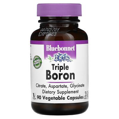 Купить Bluebonnet Nutrition Тройной бор, 90 вегетарианских капсул