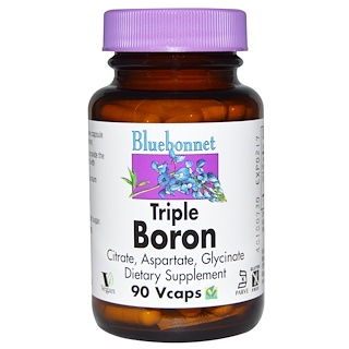 Bluebonnet Nutrition, Triple Boron, 90 Vcaps