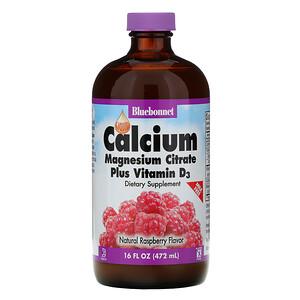 Блубоннэт Нутришен, Liquid Calcium, Magnesium Citrate Plus Vitamin D3, Natural Raspberry Flavor, 16 fl oz (472 ml) отзывы покупателей
