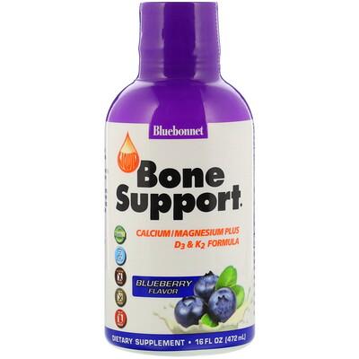 Купить Bluebonnet Nutrition Liquid Bone Support, Blueberry Flavor, 16 fl oz (472 ml)