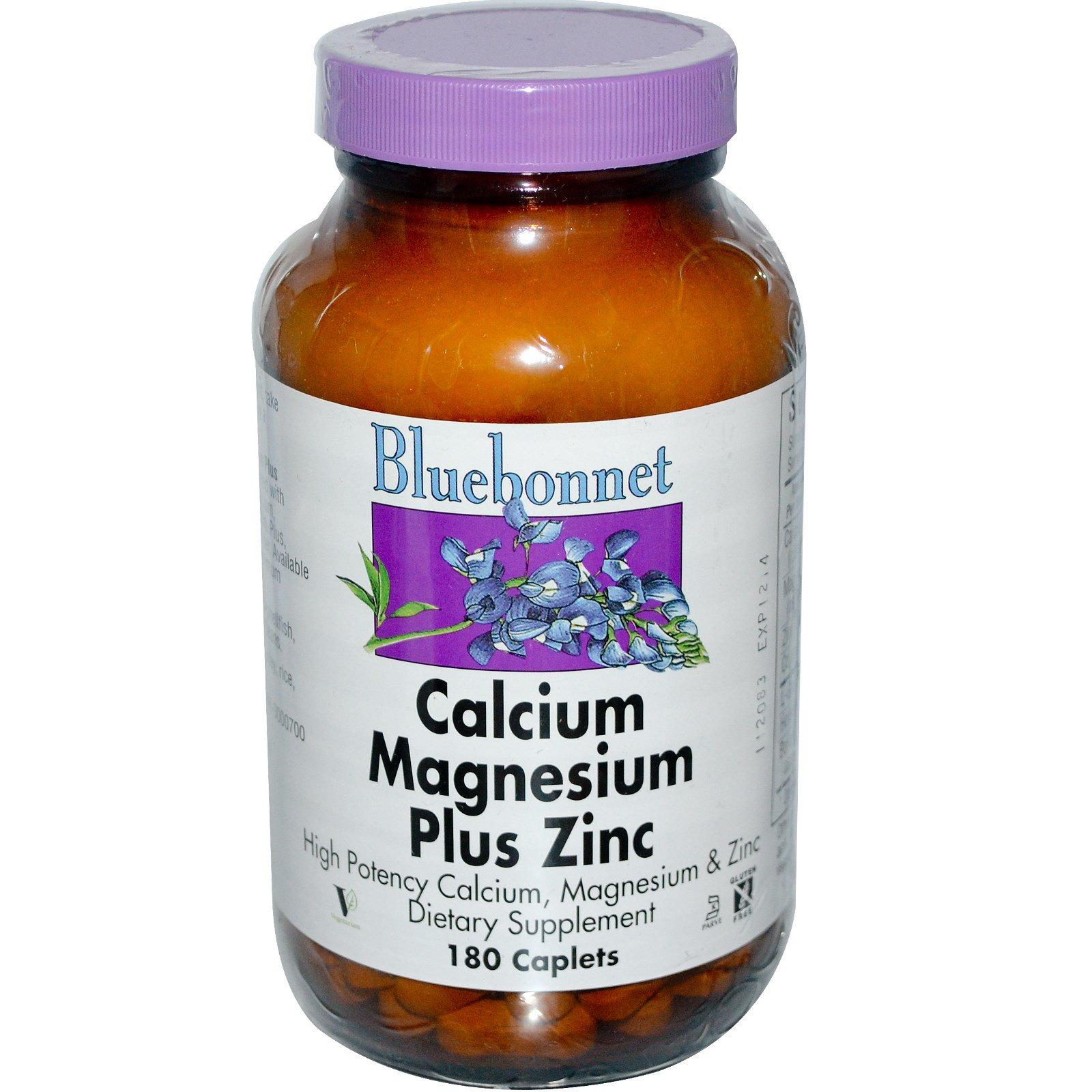 Bluebonnet Nutrition, Кальций, магний + цинк, 180 капсул