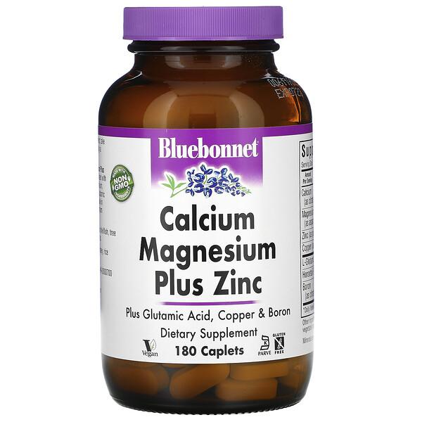Calcium Magnesium Plus Zinc, 180 Caplets