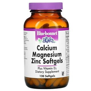 Bluebonnet Nutrition, Calcium Magnesium Zinc, 120 Softgels
