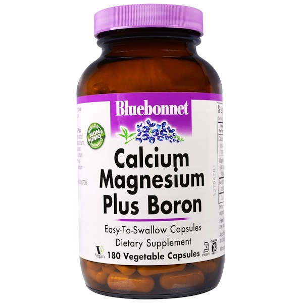 Bluebonnet Nutrition, 鈣鎂+硼,180植物膠囊