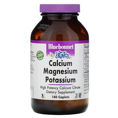 Bluebonnet Nutrition кальций, магний и калий, 180 капсуловидных таблеток