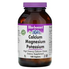 Bluebonnet Nutrition, 鈣,鎂,鉀複合丸,180錠裝