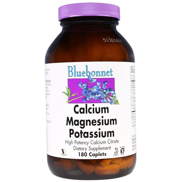 Bluebonnet Nutrition, Calcium Magnesium Potassium, 180 Caplets