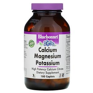 Блубоннэт Нутришен, Calcium Magnesium Potassium, 180 Caplets отзывы покупателей