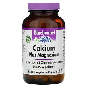 Блубоннэт Нутришен, Calcium Plus Magnesium, 180 Vcaps отзывы