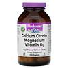 Bluebonnet Nutrition, Citrato de calcio, Magnesio y Vitamina D3, 180 comprimidos