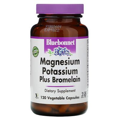 Bluebonnet Nutrition Калий Магний плюс бромелайн 120 овощных капсул