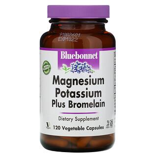 Bluebonnet Nutrition, マグネシウム カリウム プラス ブロメライン、120ベジカプセル