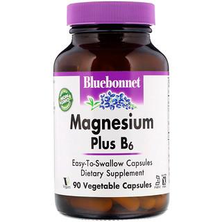 Bluebonnet Nutrition, Магний плюс B6, 90 растительных капсул