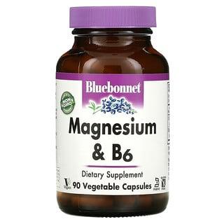 Bluebonnet Nutrition, 鎂和 B6,90 粒素食膠囊
