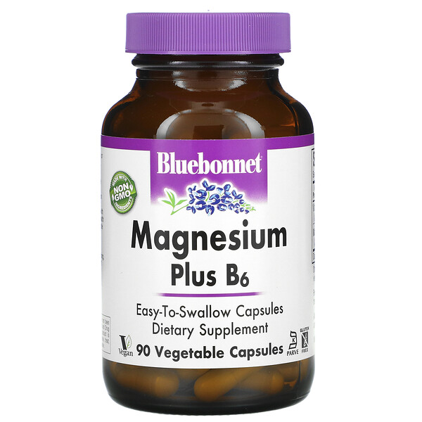 Magnesium Plus B6, 90 Vegetable Capsules