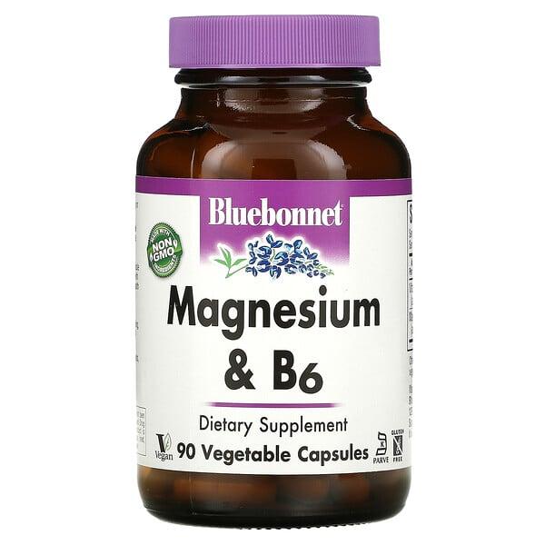 Bluebonnet Nutrition, Magnesium & B6, 90 Vegetable Capsules