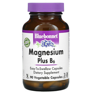 Блубоннэт Нутришен, Magnesium Plus B6, 90 Vegetable Capsules отзывы покупателей