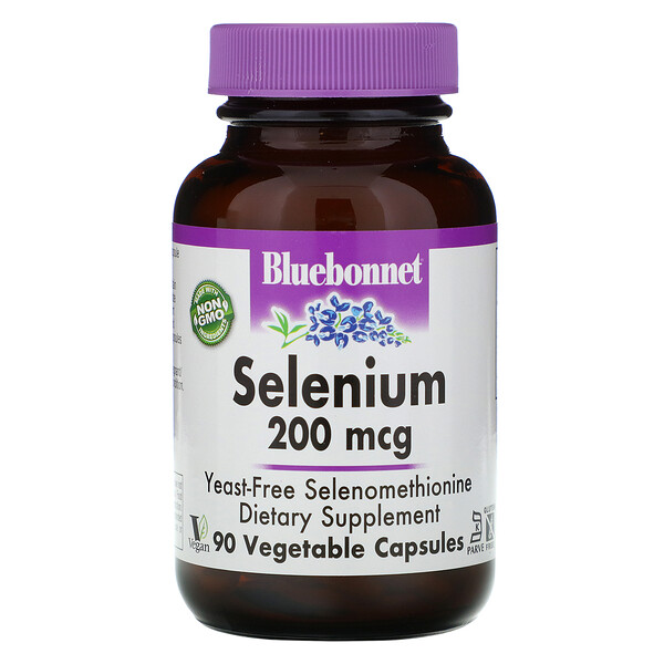 Selenium,  Selenomethionine, 200 mcg, 90 Vegetable Capsules