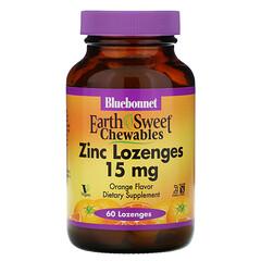 Bluebonnet Nutrition, EarthSweet,鋅片, 天然甜橙口味, 60糖錠