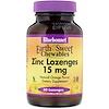 Bluebonnet Nutrition, EarthSweet, Zinc Lozenges, Natural Orange Flavor, 15 mg, 60 Lozenges